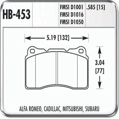 Hawk DTC-60 HB453G.585 Ferro-Carbon Racing Front Brake Pads
