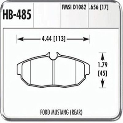 Hawk DTC-60 HB485G.656 Ferro-Carbon Racing Rear Brake Pads