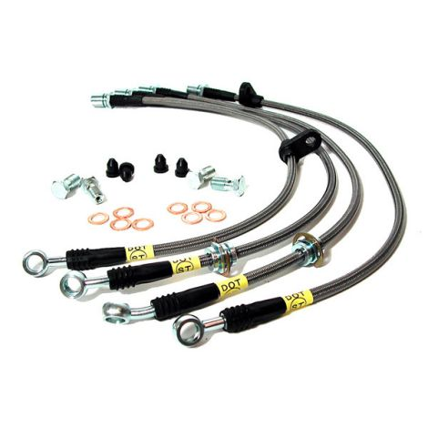 StopTech Stainless Steel Braided Brake Lines - REAR