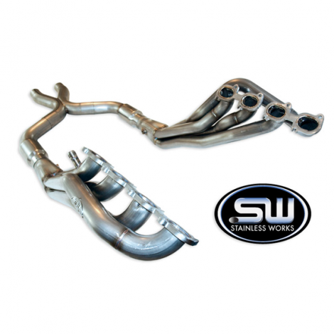 Stainless Works Headers, Catted X-Pipe Shelby GT500 2007 - 2010