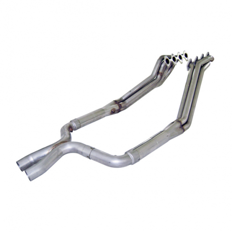 "Ford Mustang 2005-2010 Headers: 1 3/4"" Catted X-Pipe"