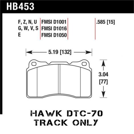 Hawk DTC-70 Racing Front Brake Pads